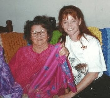 Mashaw with her mother.