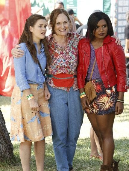 In The Mindy Project with Zoe Jarman and Mindy Kaling.