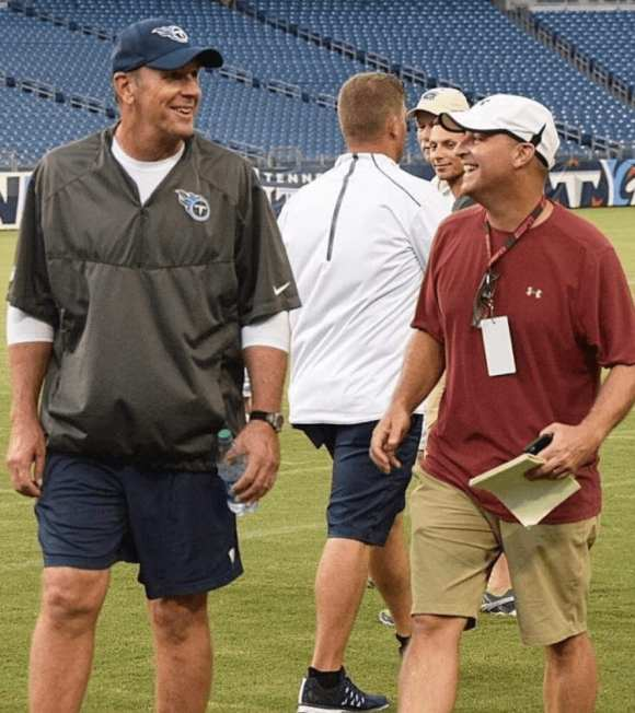 Paul (right) with Mike Mularkey.