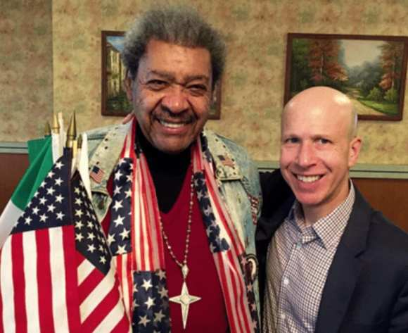 With Don King