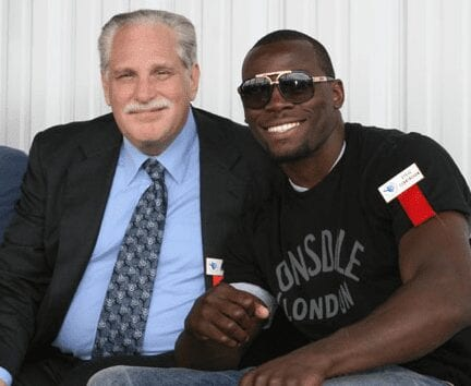Alongside Steve Cunningham, the IBF cruiserweight champion.