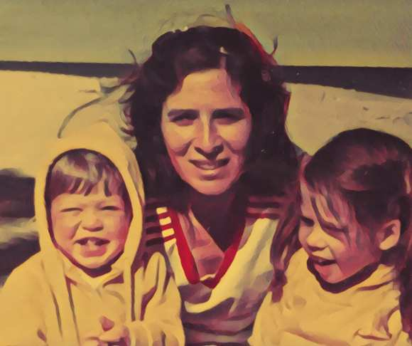 Barbara with daughters Alison (left) and Sharon.