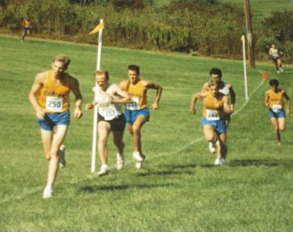 Barry (left) during his days at Delaware.